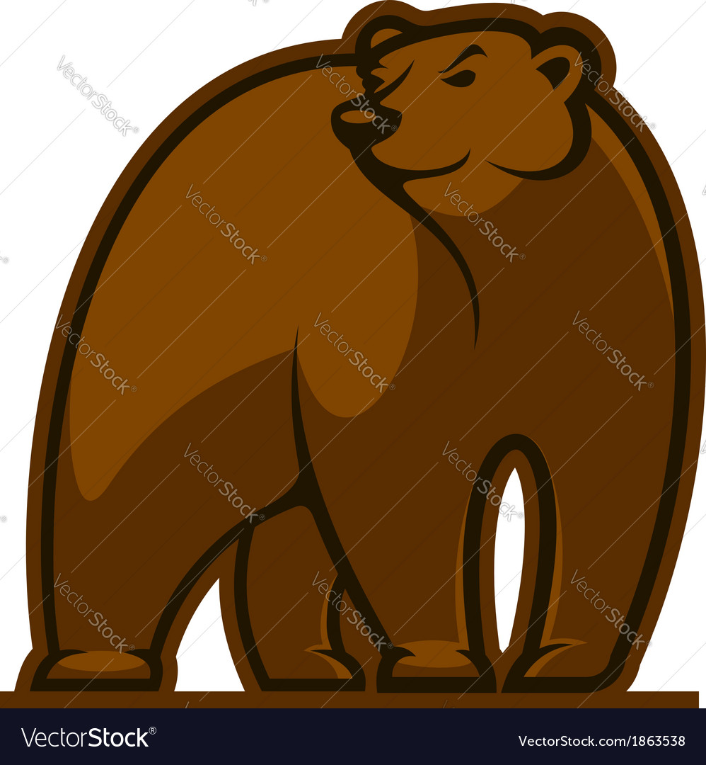 Walking grizzly bear vector | Price: 1 Credit (USD $1)