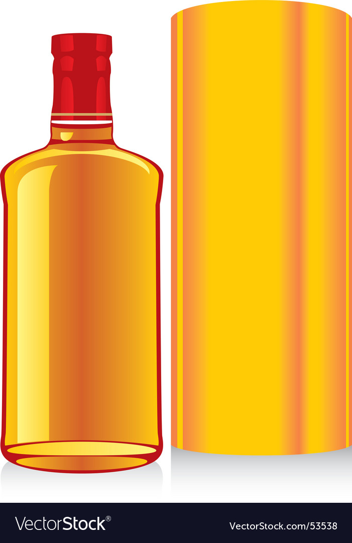Whiskey bottle and box vector | Price: 1 Credit (USD $1)