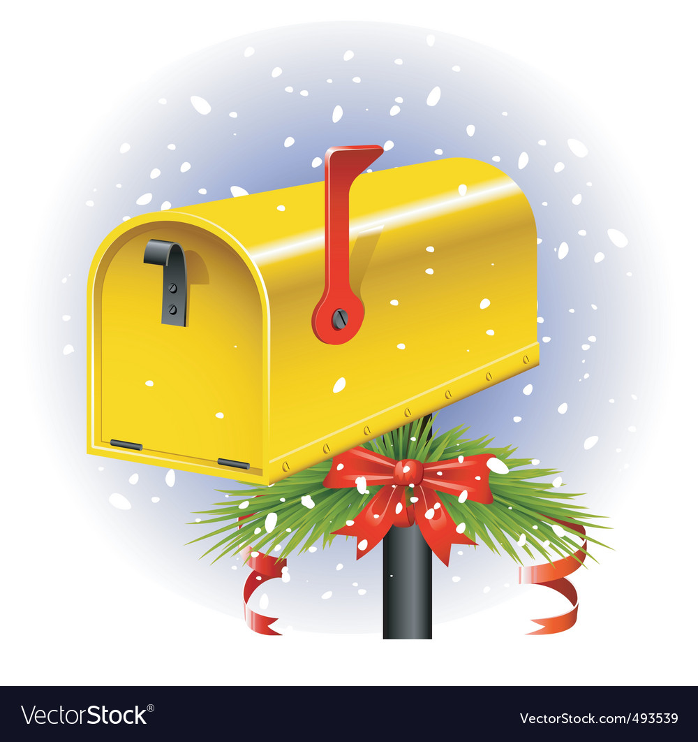 Christmas letter box vector | Price: 1 Credit (USD $1)