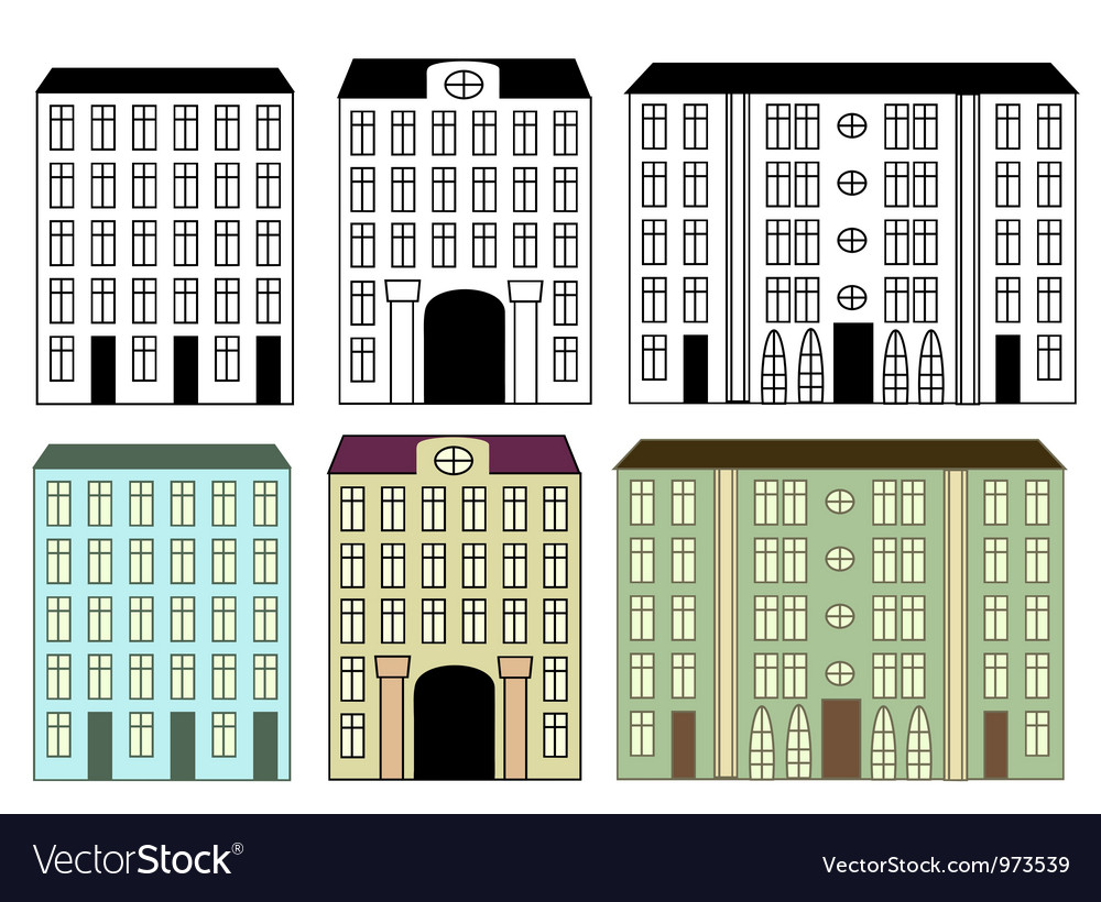 City buildings vector | Price: 1 Credit (USD $1)
