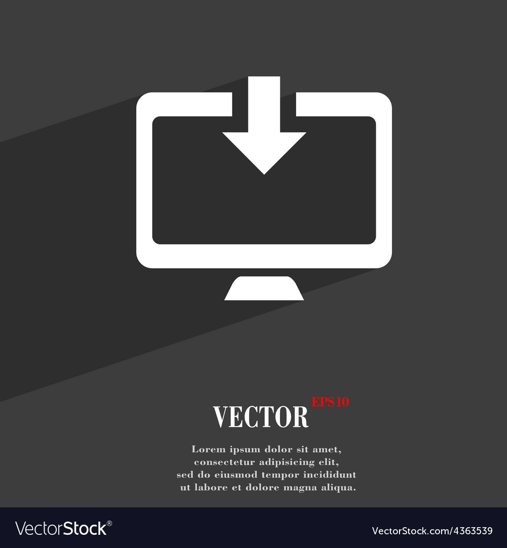 Download load backup icon symbol flat modern web vector