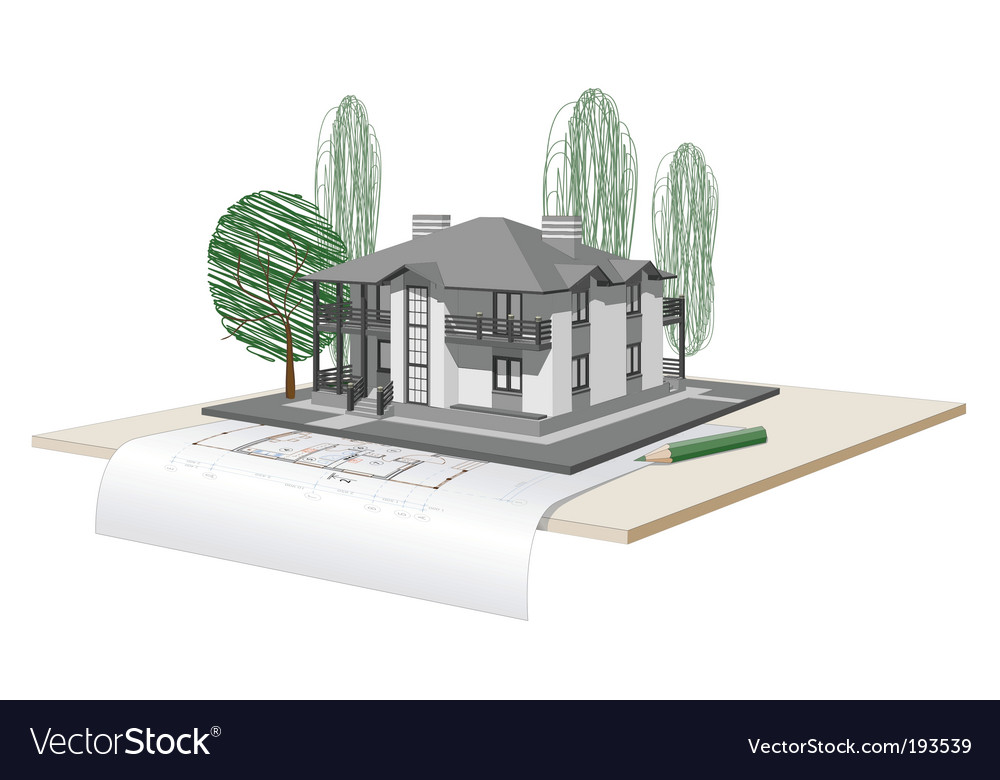 Drawn house vector | Price: 3 Credit (USD $3)