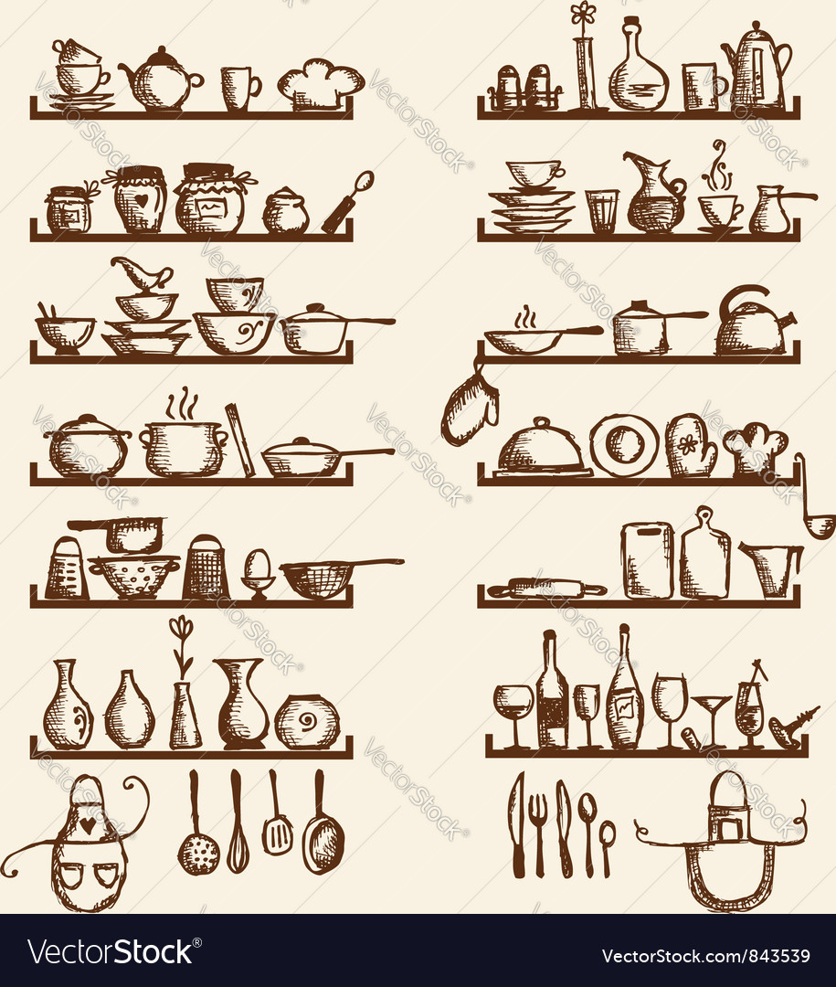Kitchen utensils vector | Price: 1 Credit (USD $1)