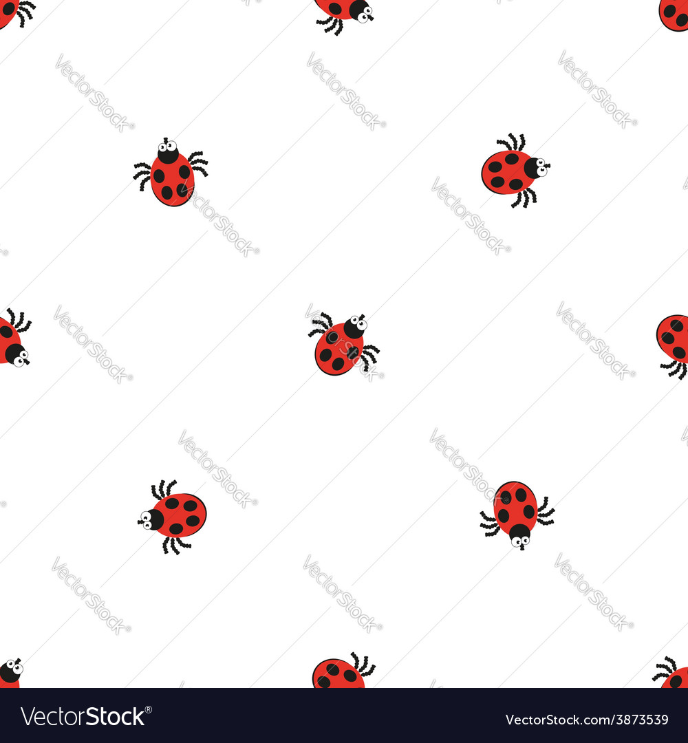 Ladybird bug flat style pattern nature insect vector | Price: 1 Credit (USD $1)