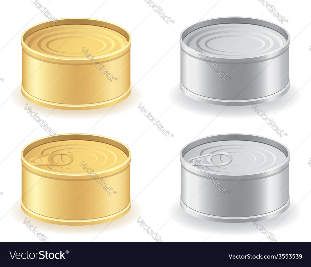 Metal tin can 03 vector | Price: 1 Credit (USD $1)