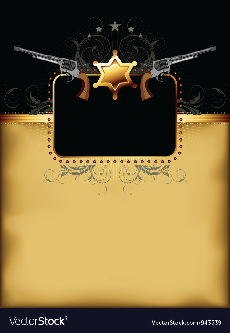 Ornate frame with guns vector | Price: 1 Credit (USD $1)