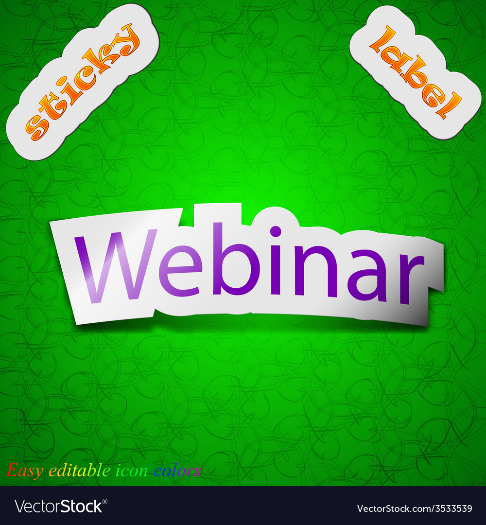 Webinar web camera icon sign symbol chic colored vector | Price: 1 Credit (USD $1)