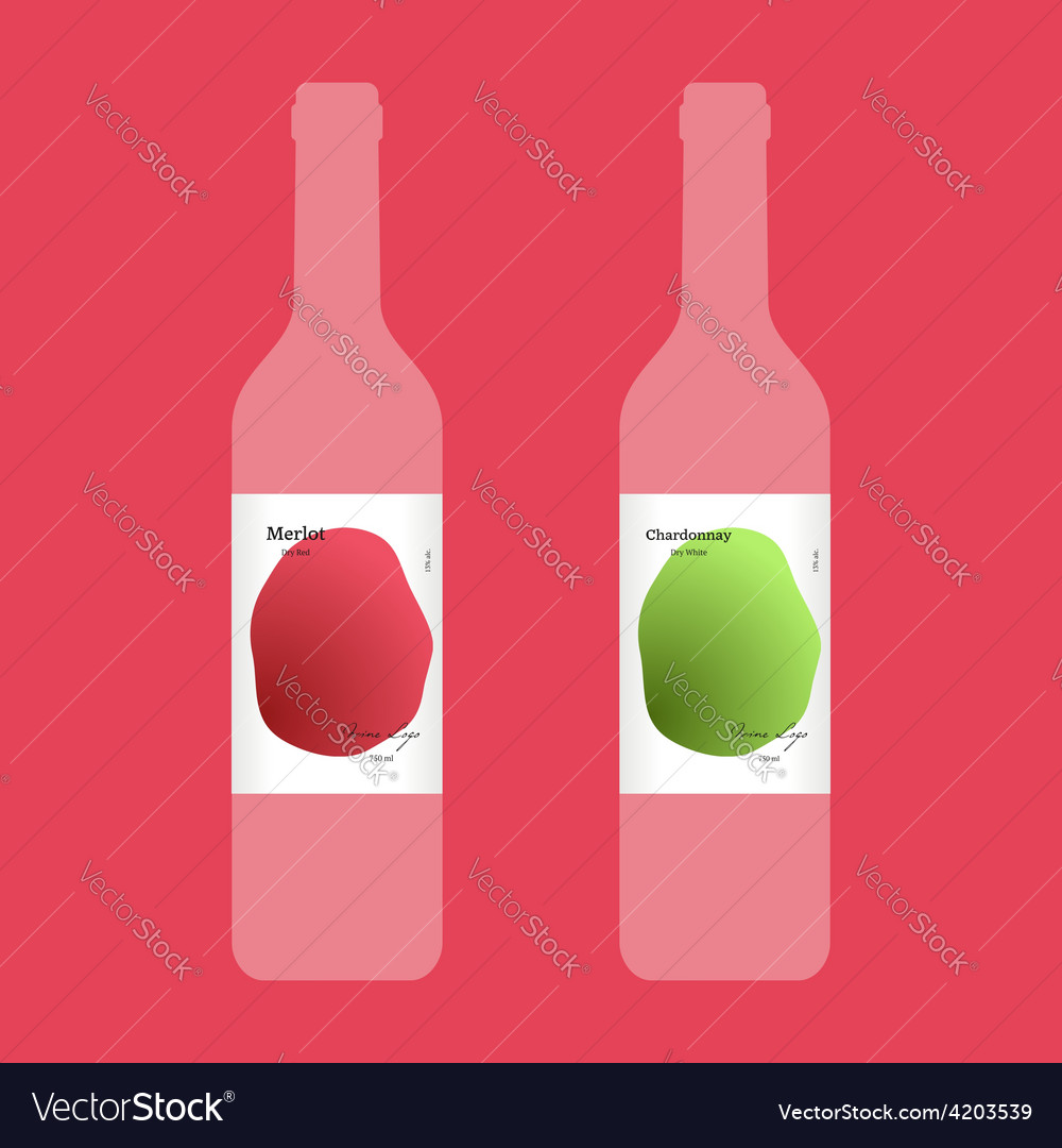Wine label with modern design vector | Price: 1 Credit (USD $1)