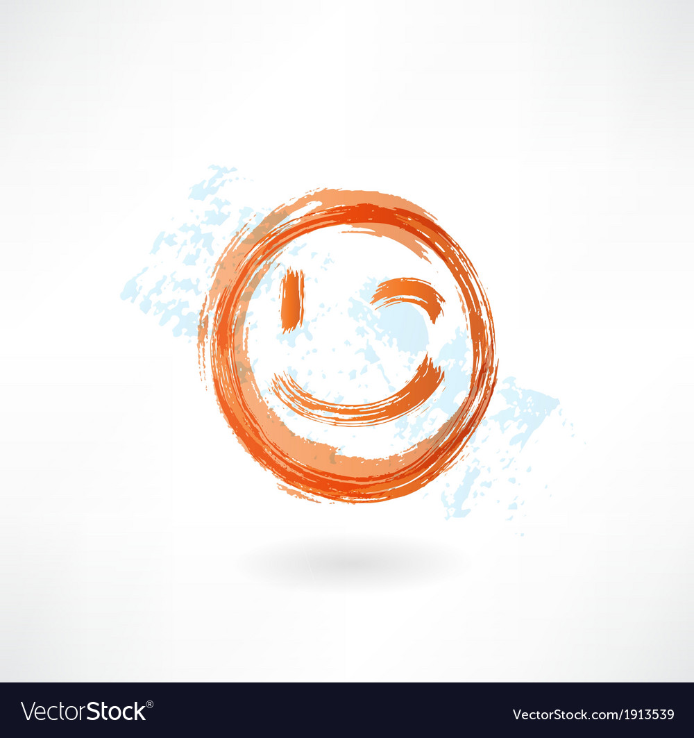 Wink grunge icon vector | Price: 1 Credit (USD $1)
