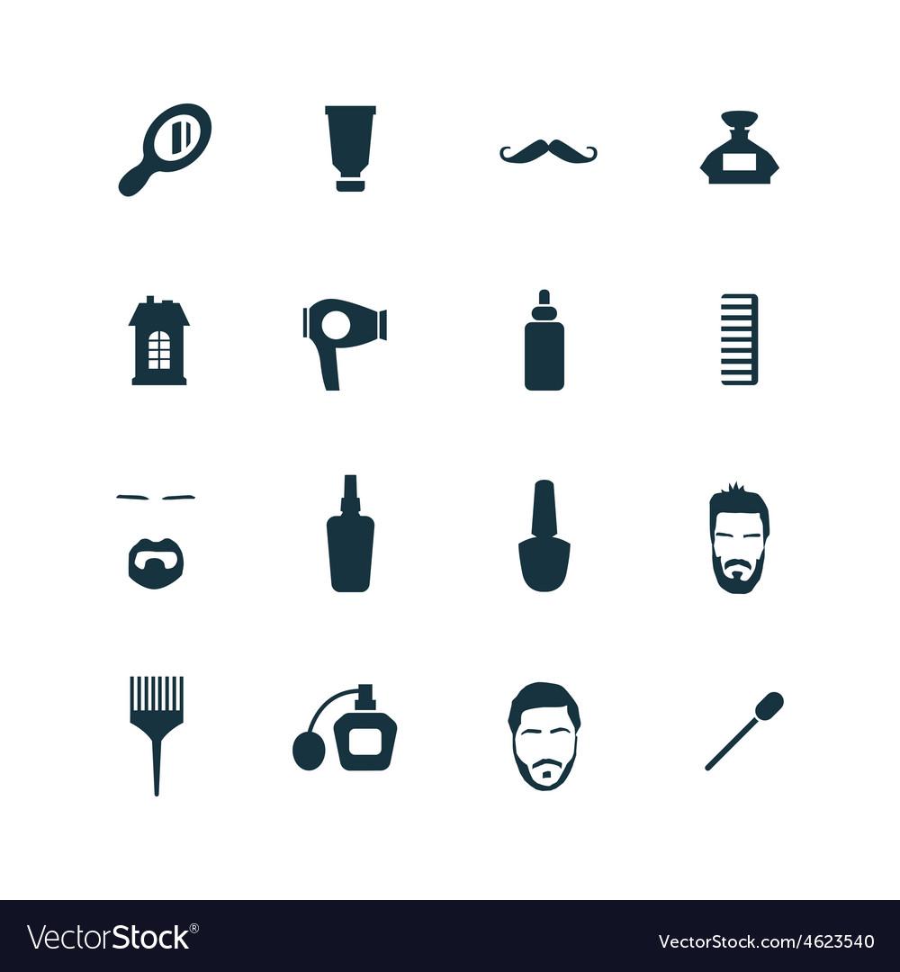 Barbershop icons set vector | Price: 1 Credit (USD $1)