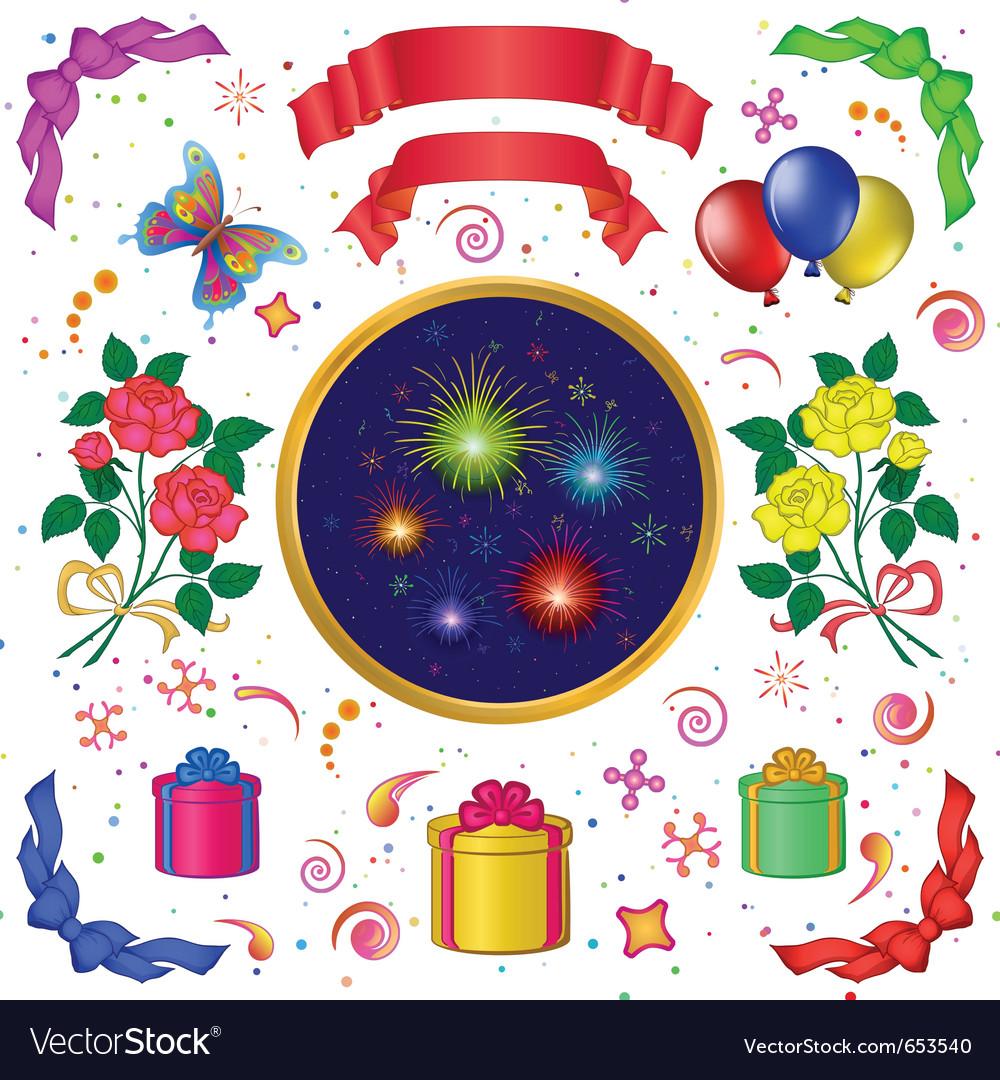 Celebratory set vector | Price: 1 Credit (USD $1)