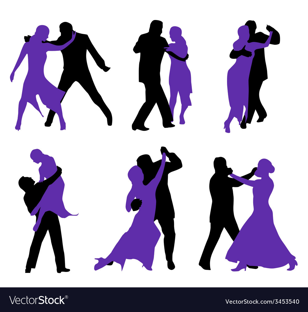 Couples dancing vector