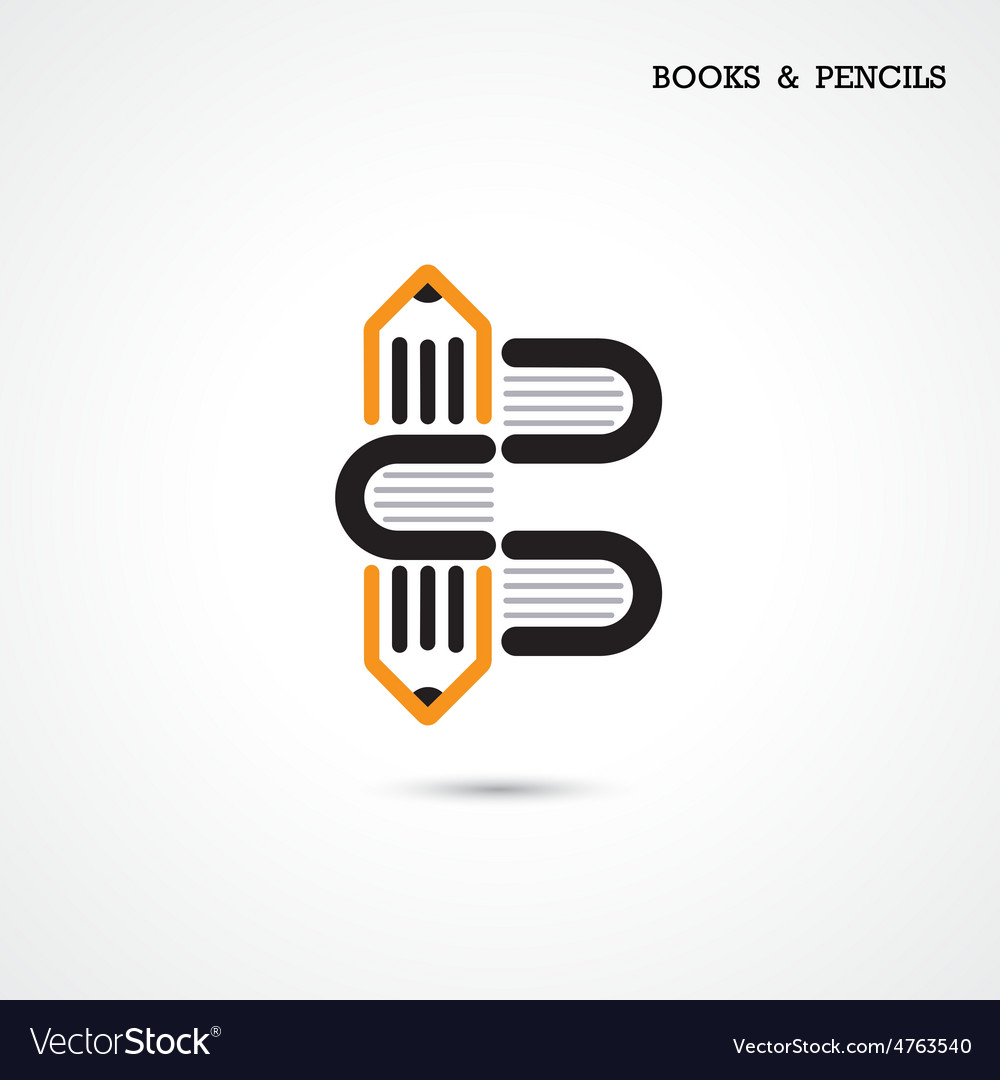Creative pencil and book icon vector | Price: 1 Credit (USD $1)