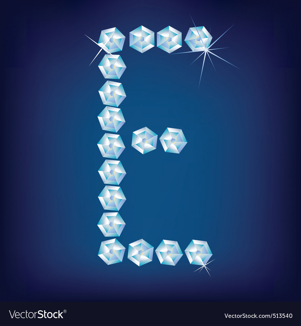 diamond alphabet letter e vector | Price: 1 Credit (USD $1)