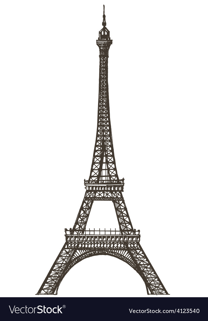 Eiffel tower logo design template paris or vector | Price: 3 Credit (USD $3)