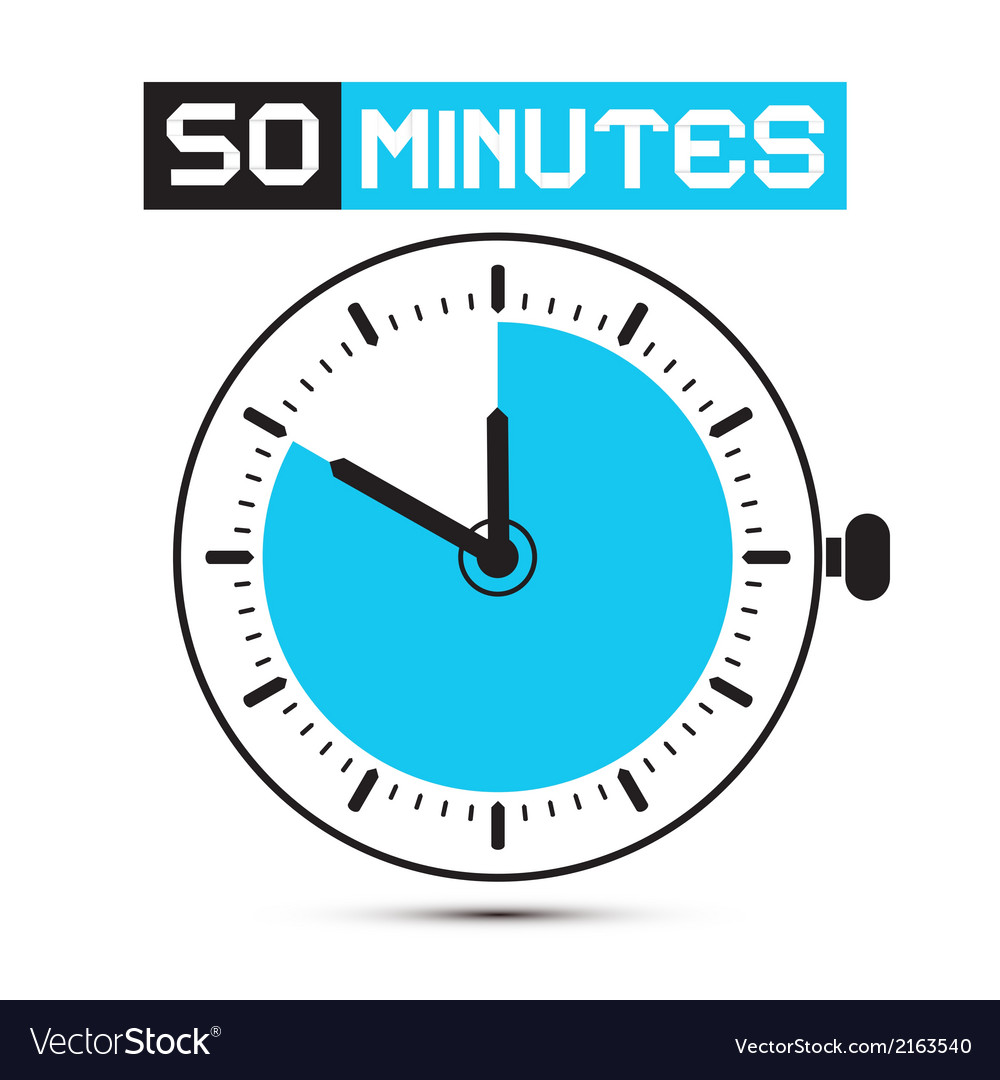 Fifty minutes stop watch - clock vector | Price: 1 Credit (USD $1)