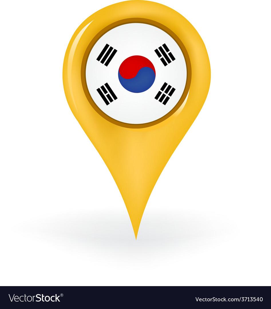 Location south korea vector | Price: 1 Credit (USD $1)
