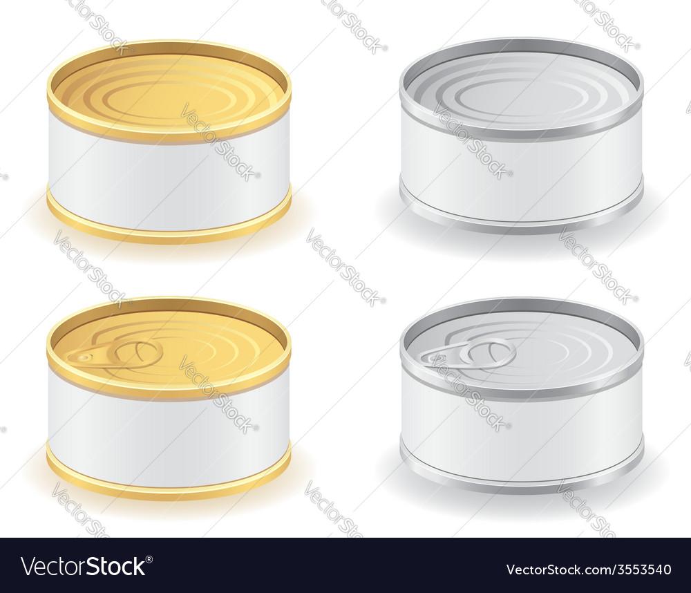 Metal tin can 04 vector | Price: 1 Credit (USD $1)