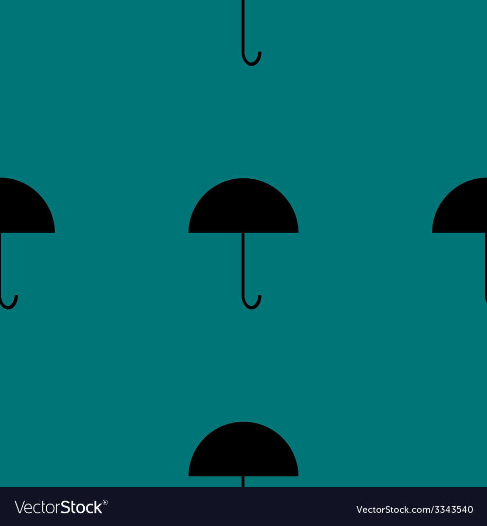 Umbrella web icon flat design seamless gray vector | Price: 1 Credit (USD $1)