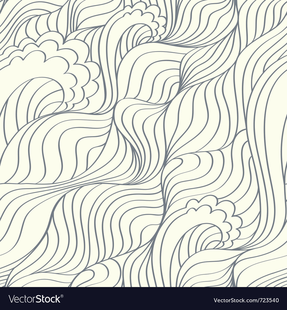 Waves abstract background vector | Price: 1 Credit (USD $1)