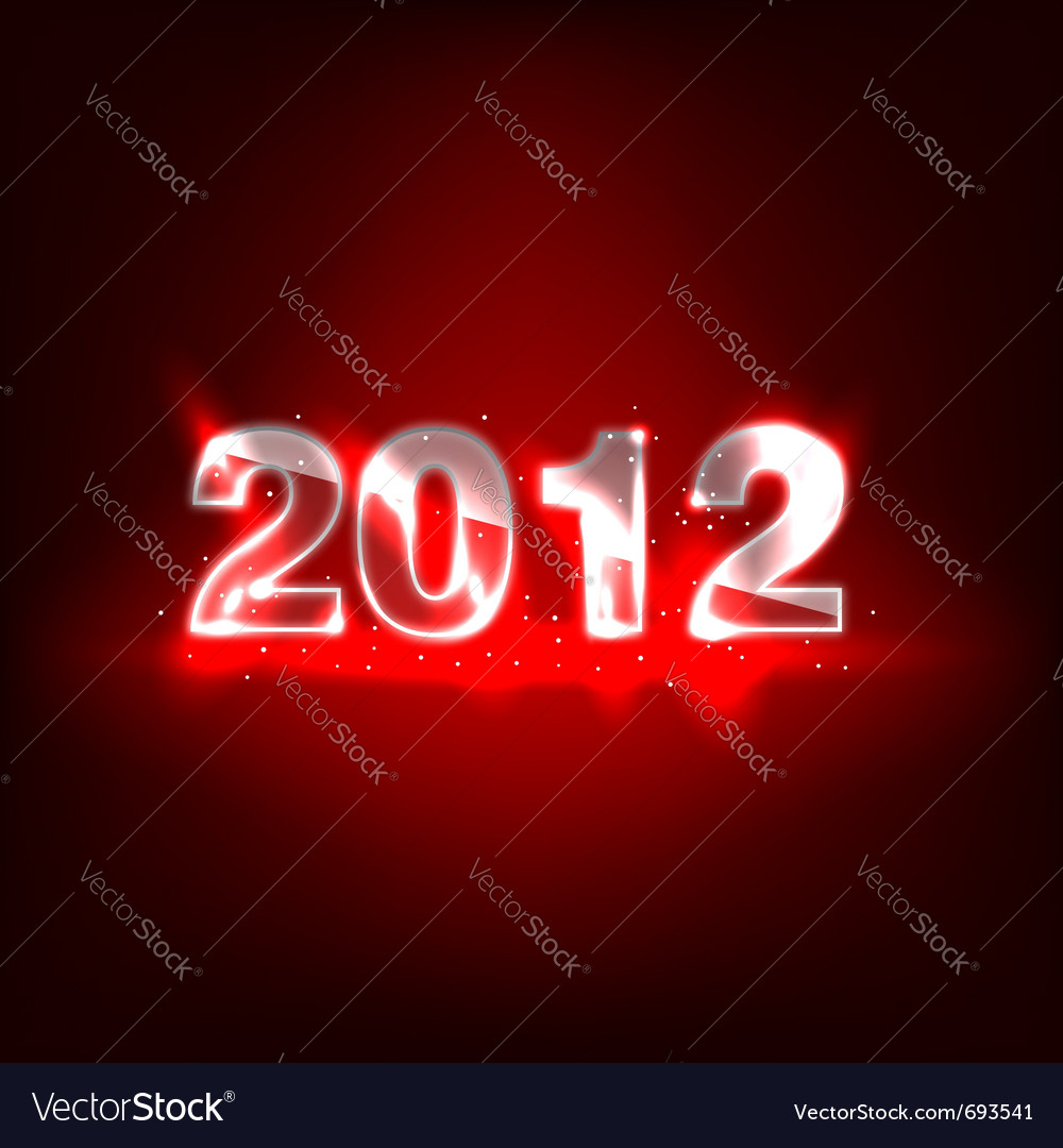 2012 new year numbers vector | Price: 1 Credit (USD $1)