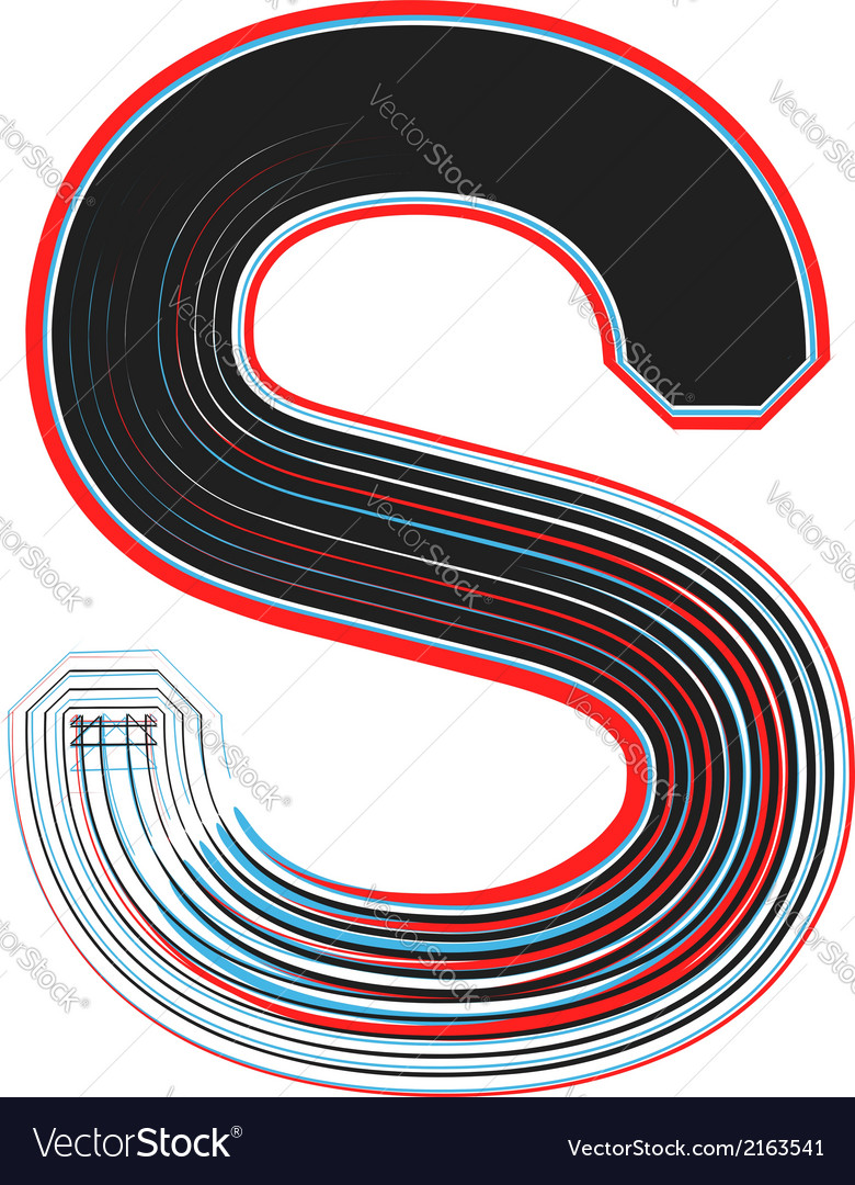 Abstract font letter s vector | Price: 1 Credit (USD $1)
