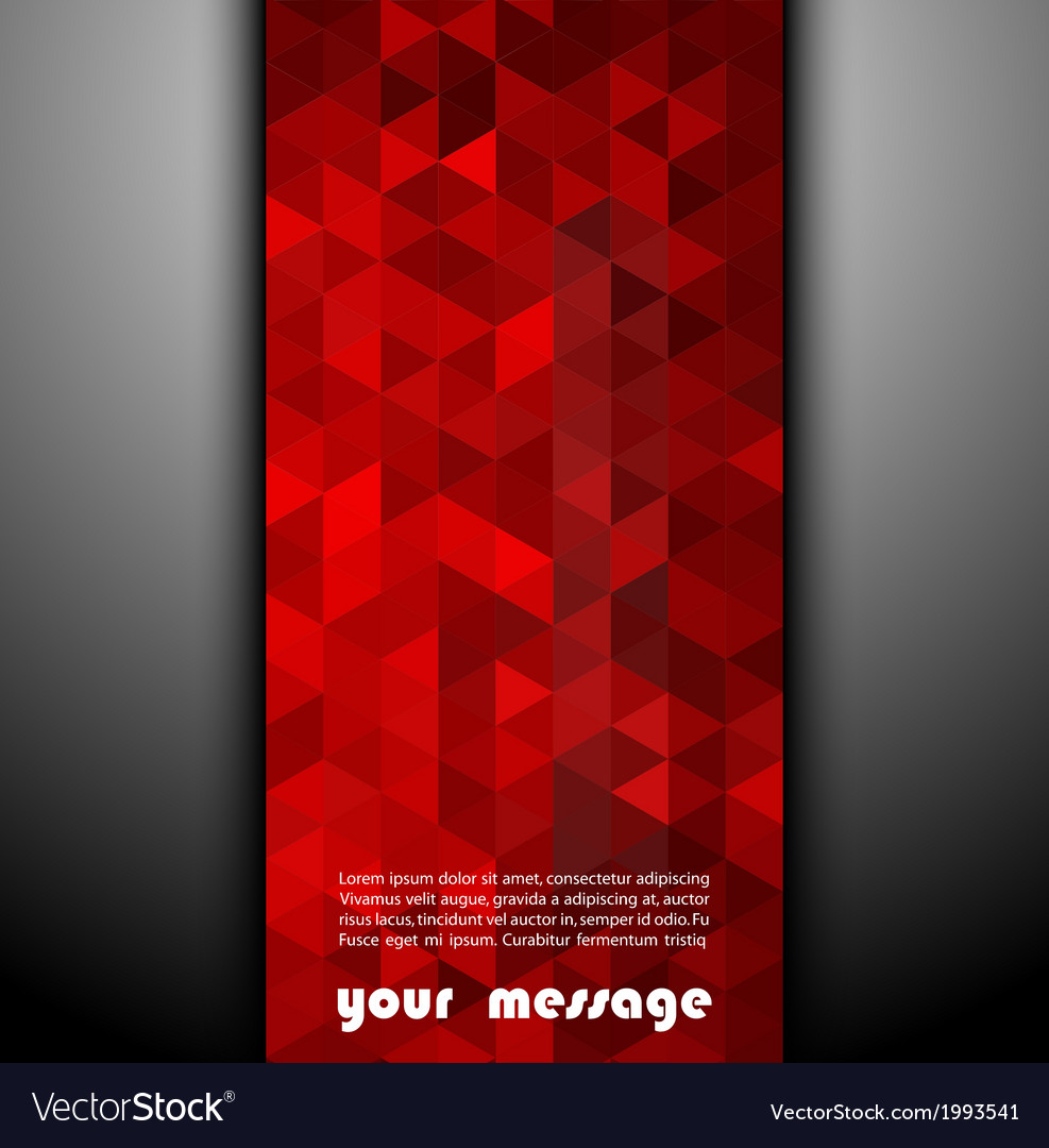 Abstract template background with triangle shapes vector | Price: 1 Credit (USD $1)