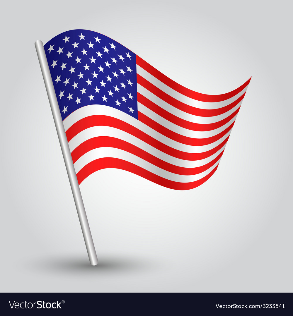 Flag usa vector | Price: 1 Credit (USD $1)