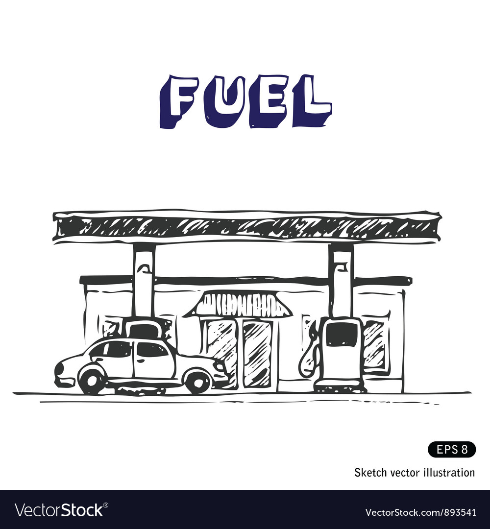 Fuel station vector | Price: 1 Credit (USD $1)