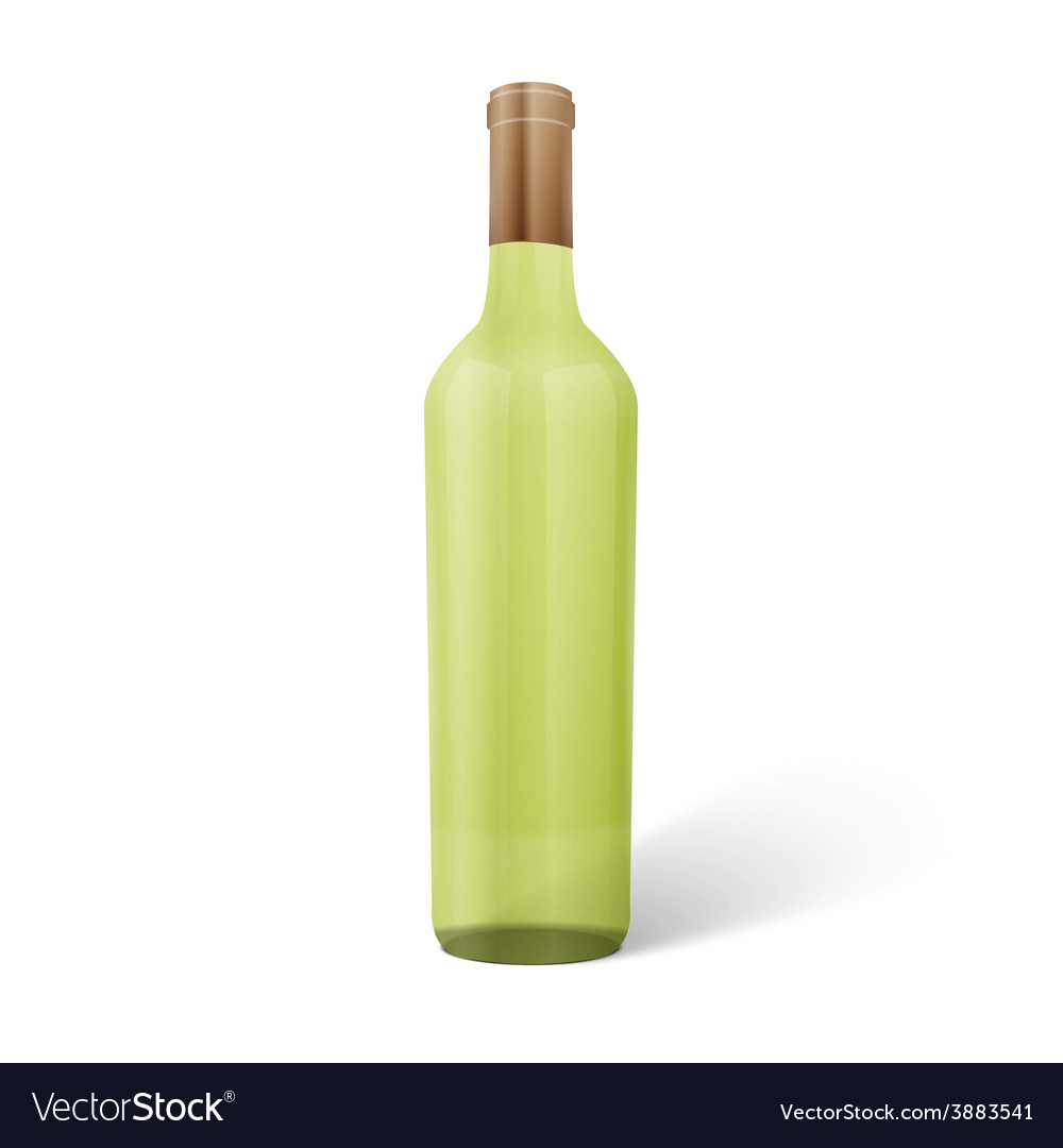 Glass wine bottle vector | Price: 1 Credit (USD $1)