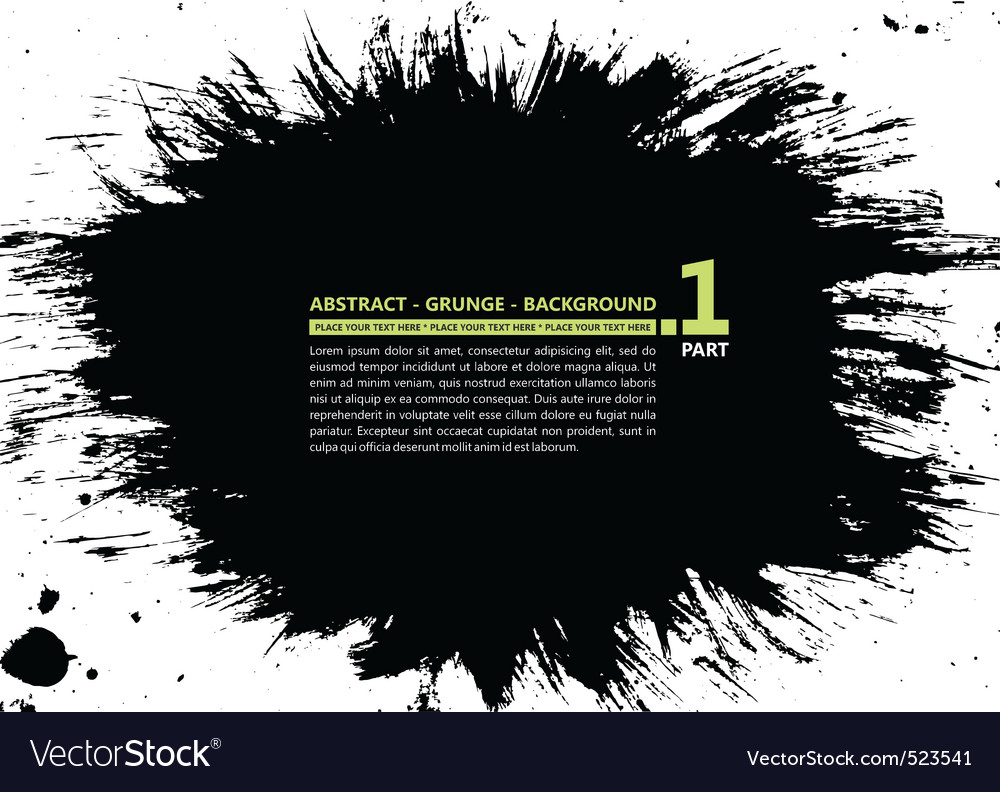 Grunge abstract silhouette background banner ink s vector | Price: 1 Credit (USD $1)