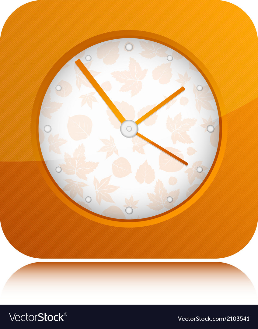 Orange clock vector | Price: 1 Credit (USD $1)