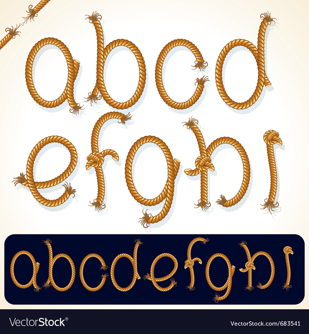 Rope alphabet 1 vector | Price: 3 Credit (USD $3)