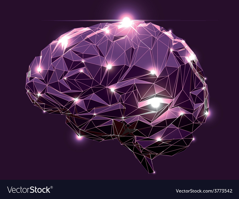 Abstract human brain vector | Price: 1 Credit (USD $1)