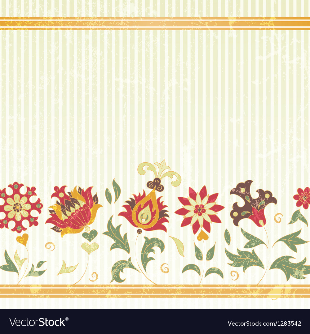 Background with retro flowers vector | Price: 1 Credit (USD $1)