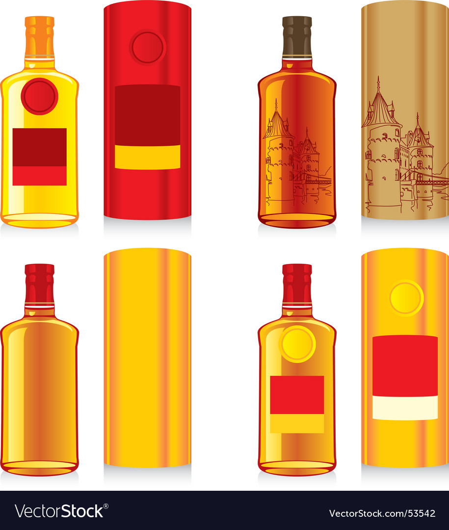 Bottles and boxes vector | Price: 1 Credit (USD $1)