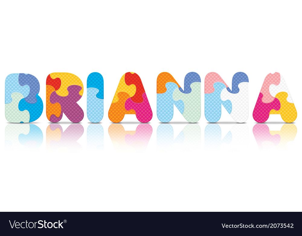 Brianna written with alphabet puzzle vector   Price: 1 Credit (USD $1)