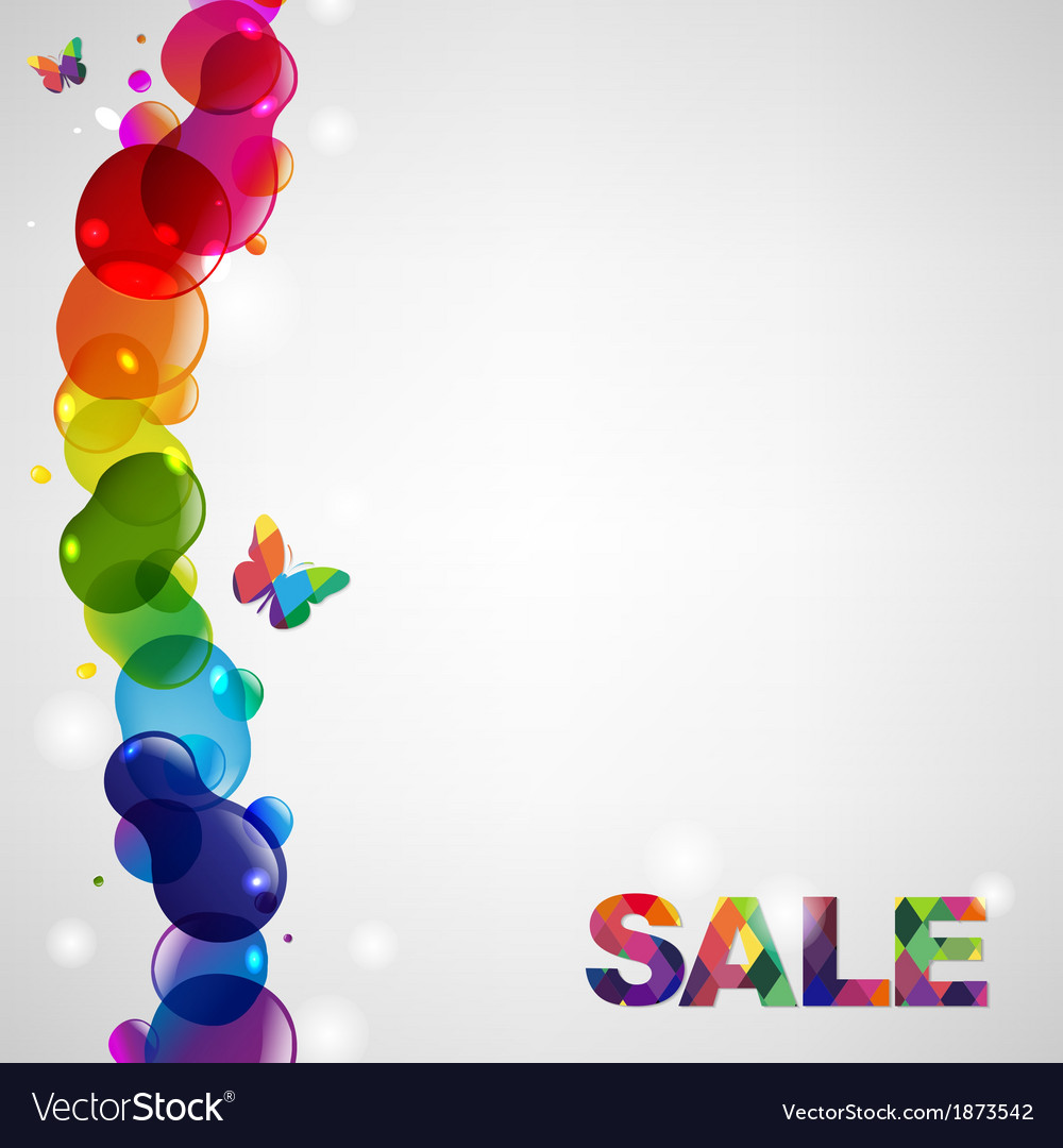 Colorful sale text vector | Price: 1 Credit (USD $1)