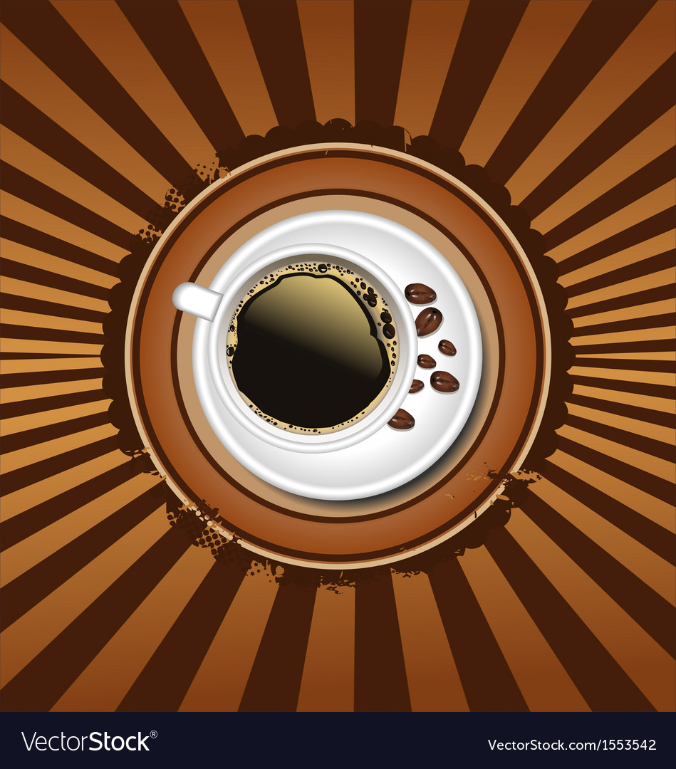 Cup of coffee retro background vector   Price: 1 Credit (USD $1)