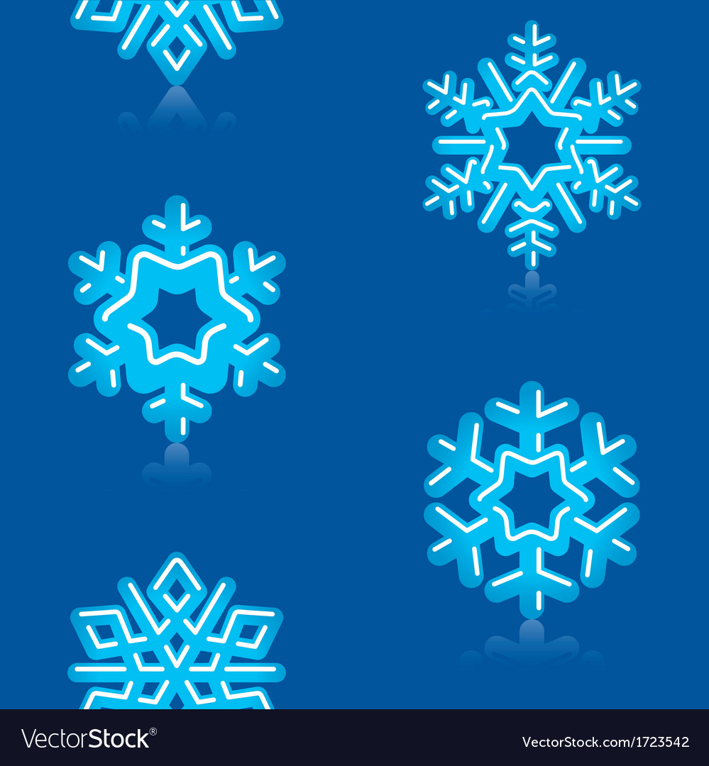 Deep blue snowflakes pattern vector | Price: 1 Credit (USD $1)