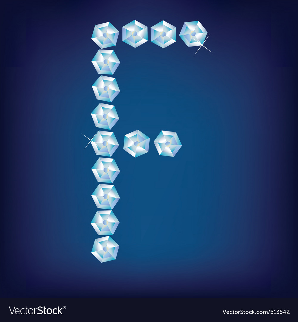 diamond alphabet letter f vector | Price: 1 Credit (USD $1)