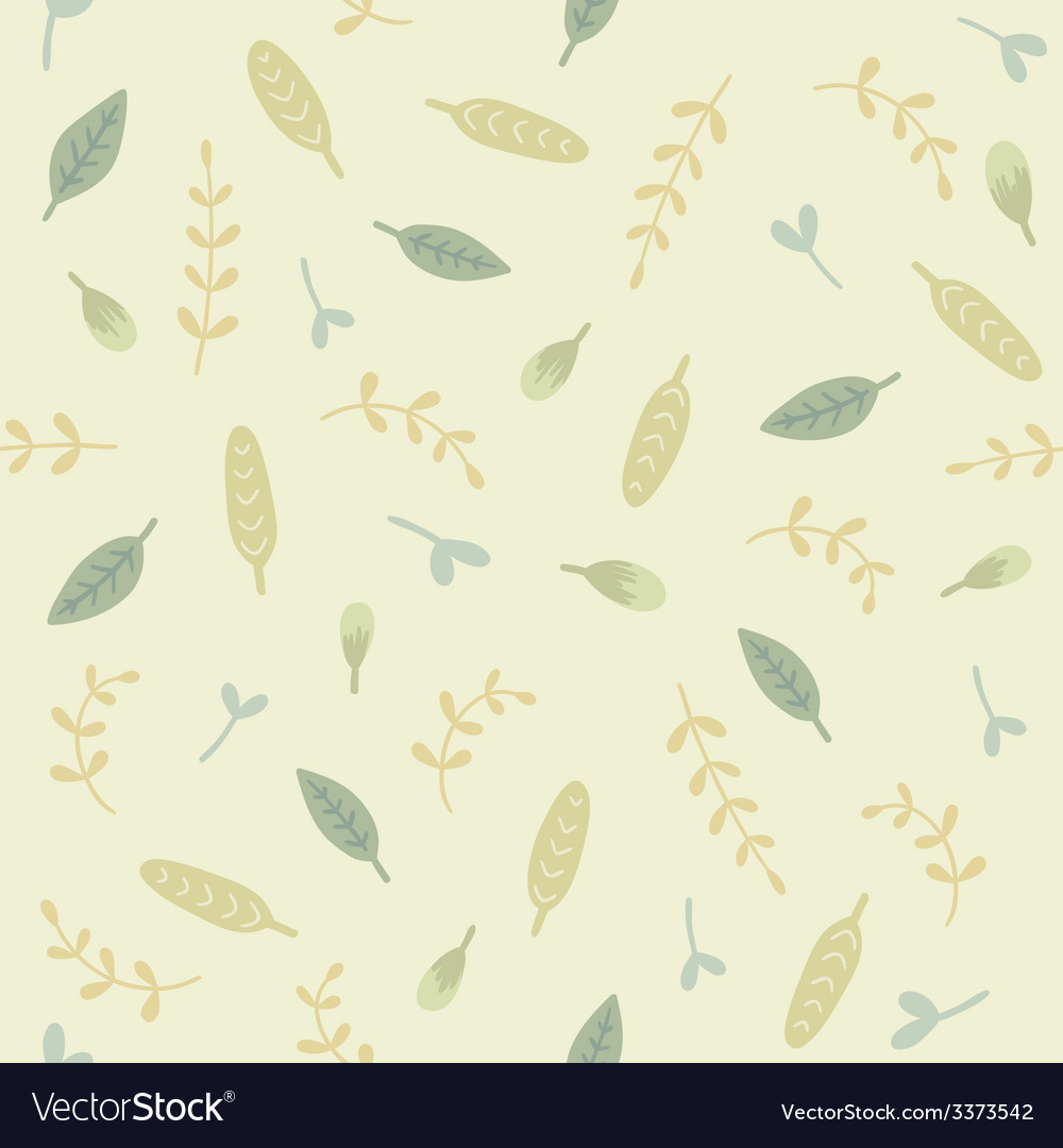 Green leafs seamless pattern vector   Price: 1 Credit (USD $1)