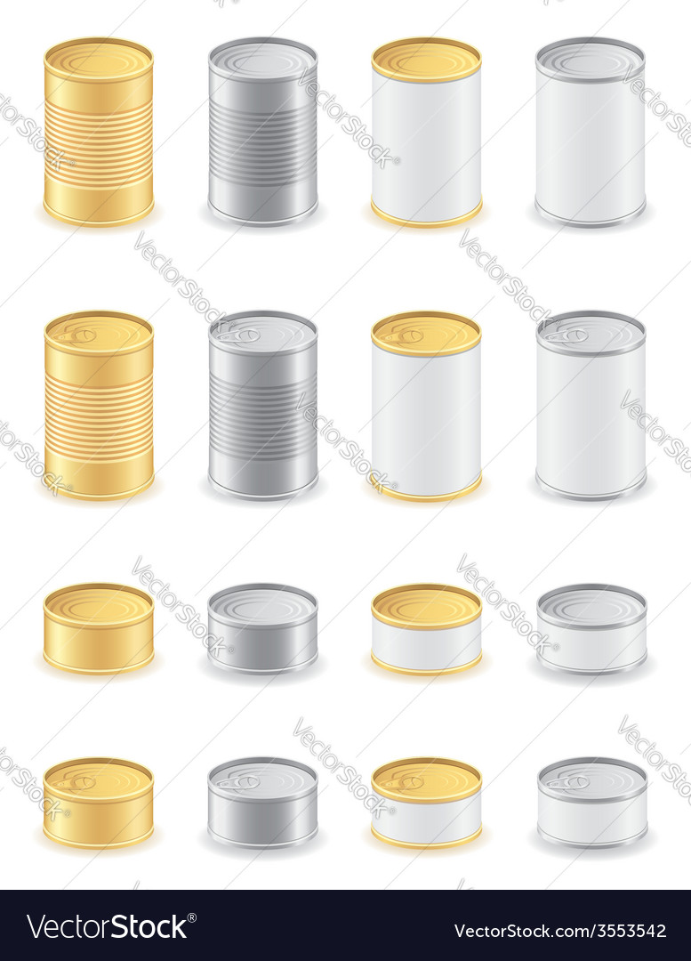Metal tin can 05 vector | Price: 1 Credit (USD $1)