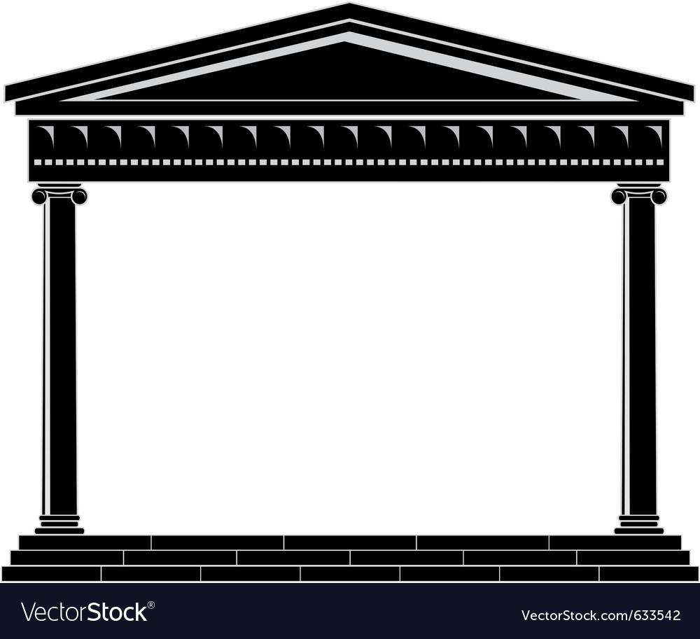 Portico of ancient temple vector | Price: 1 Credit (USD $1)