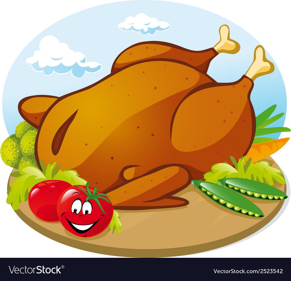 Roast chicken vector | Price: 1 Credit (USD $1)