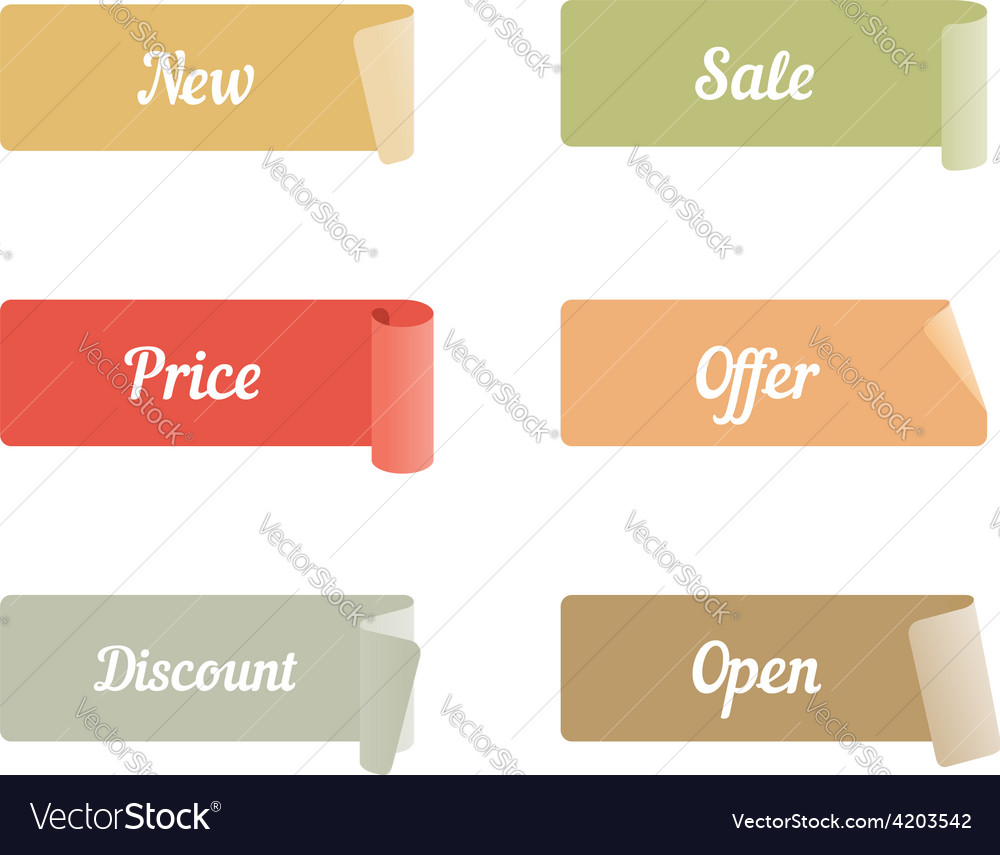 Set of colored adhesive scotch tapes with text new vector | Price: 1 Credit (USD $1)