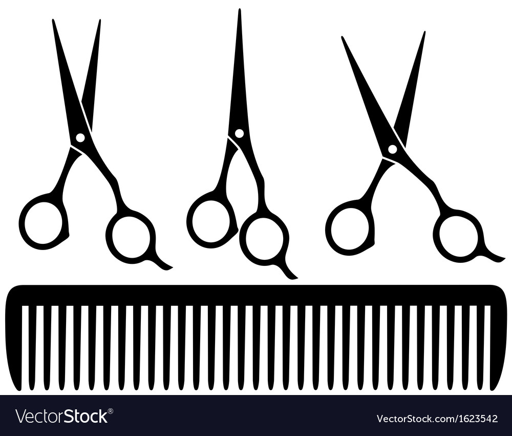 Set of professional scissors vector | Price: 1 Credit (USD $1)