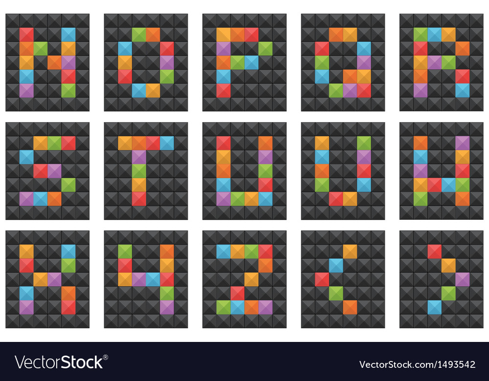 Square alphabet set 2 vector | Price: 1 Credit (USD $1)