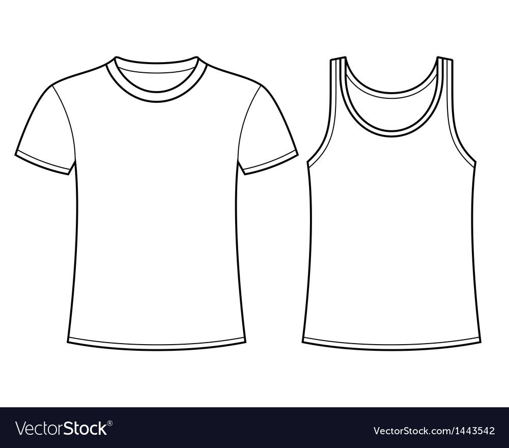 T-shirt and singlet template vector | Price: 1 Credit (USD $1)