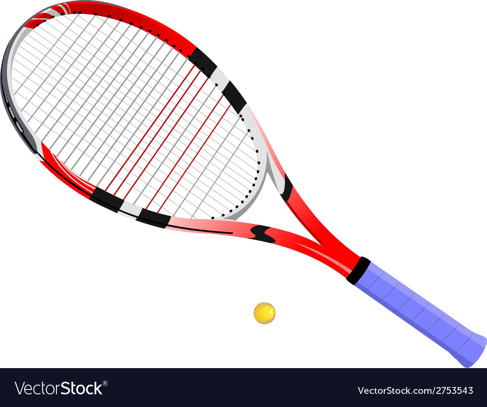 Al 0724 tennis racket and ball vector | Price: 1 Credit (USD $1)